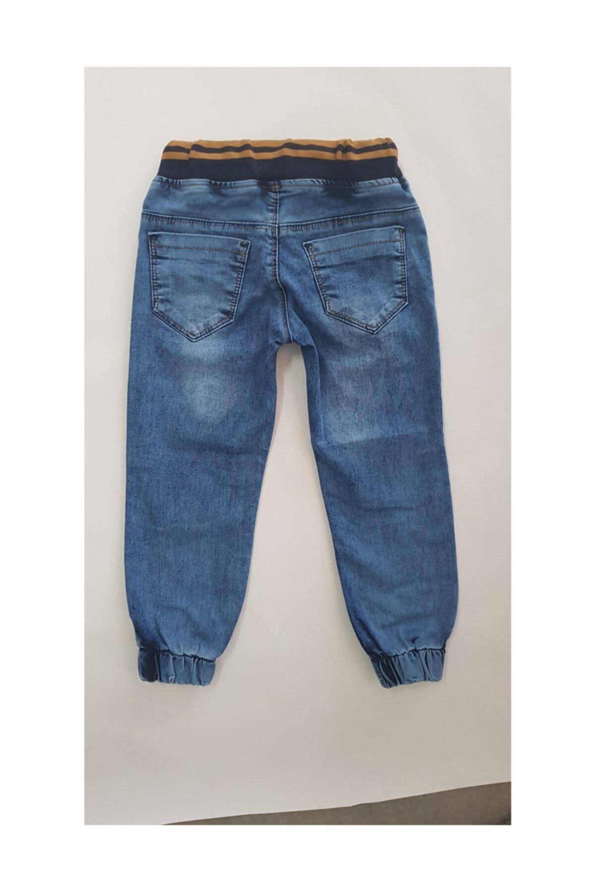 Sercino Erkek Çocuk Pantolonu Jeans Ribanalı 2
