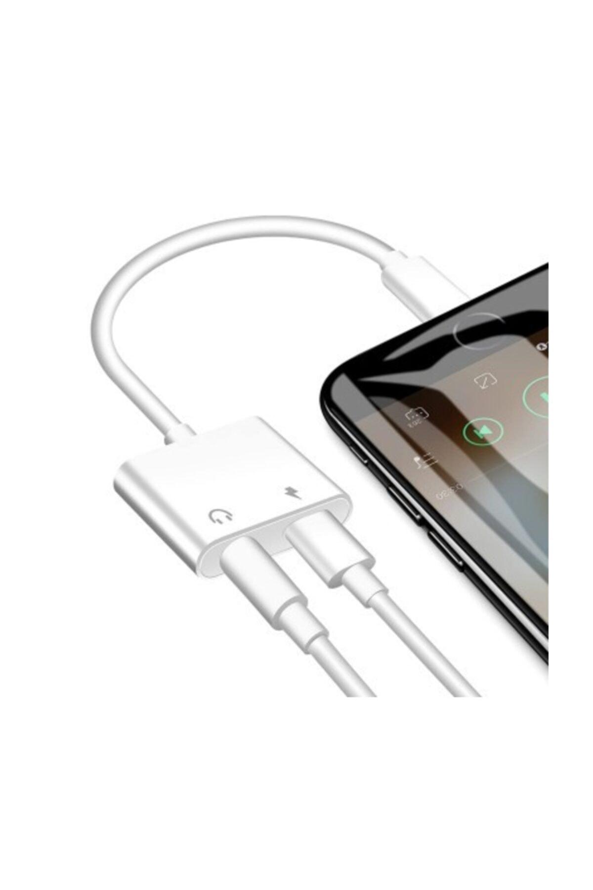 Kralphone Iphone Ipad Lightning Kulaklık Ve Şarj Çevirici Dönüştürücü Çoğaltıcı Kablo 6 7 8 X Xs Xs Ma 2