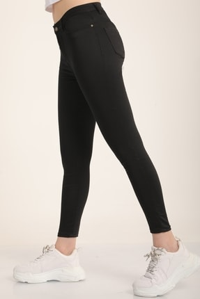 MD trend Kadın Siyah Yüksek Bel Skinny Jean Pantolon Mdt4542