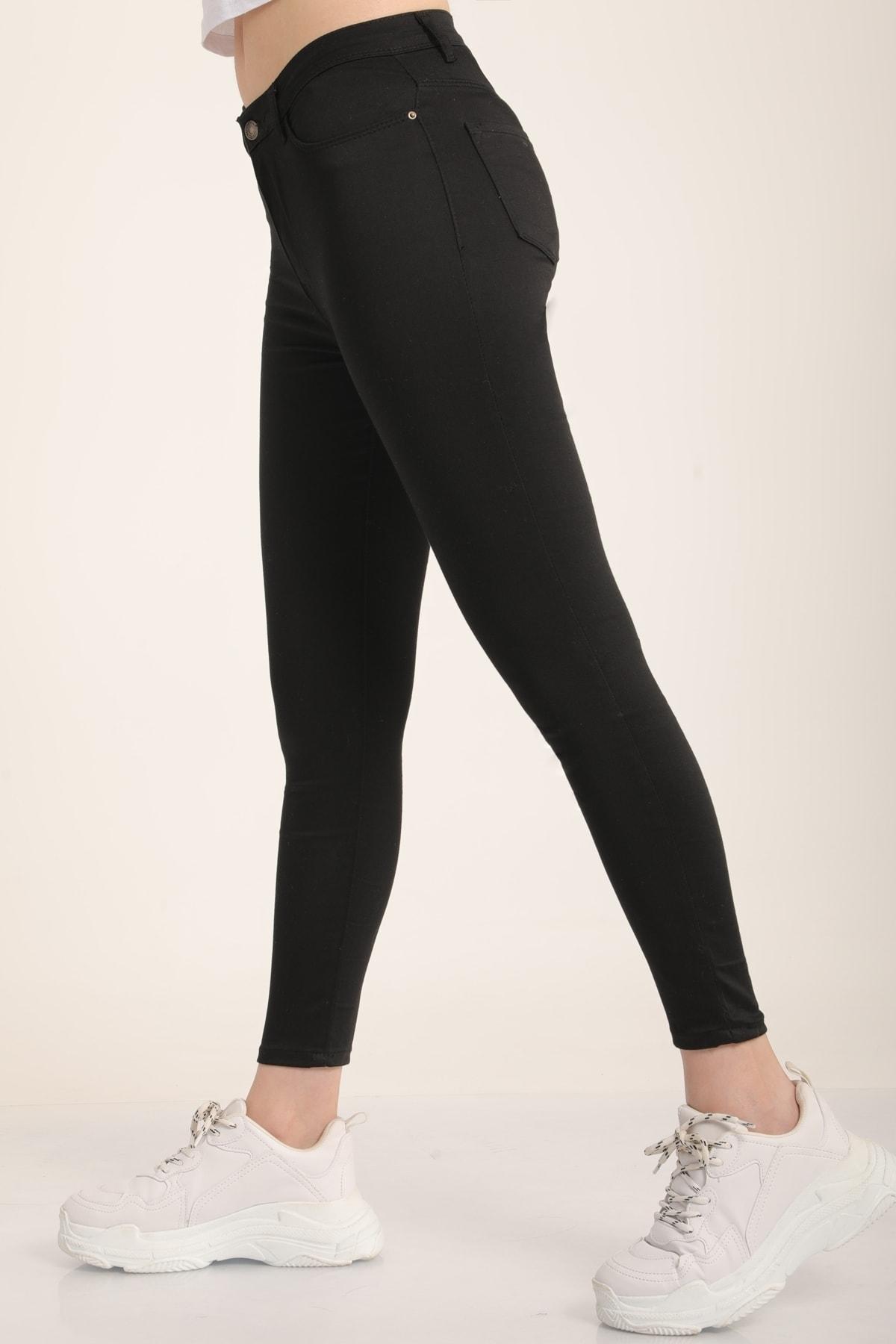 MD trend Kadın Siyah Yüksek Bel Skinny Jean Pantolon Mdt4542 1