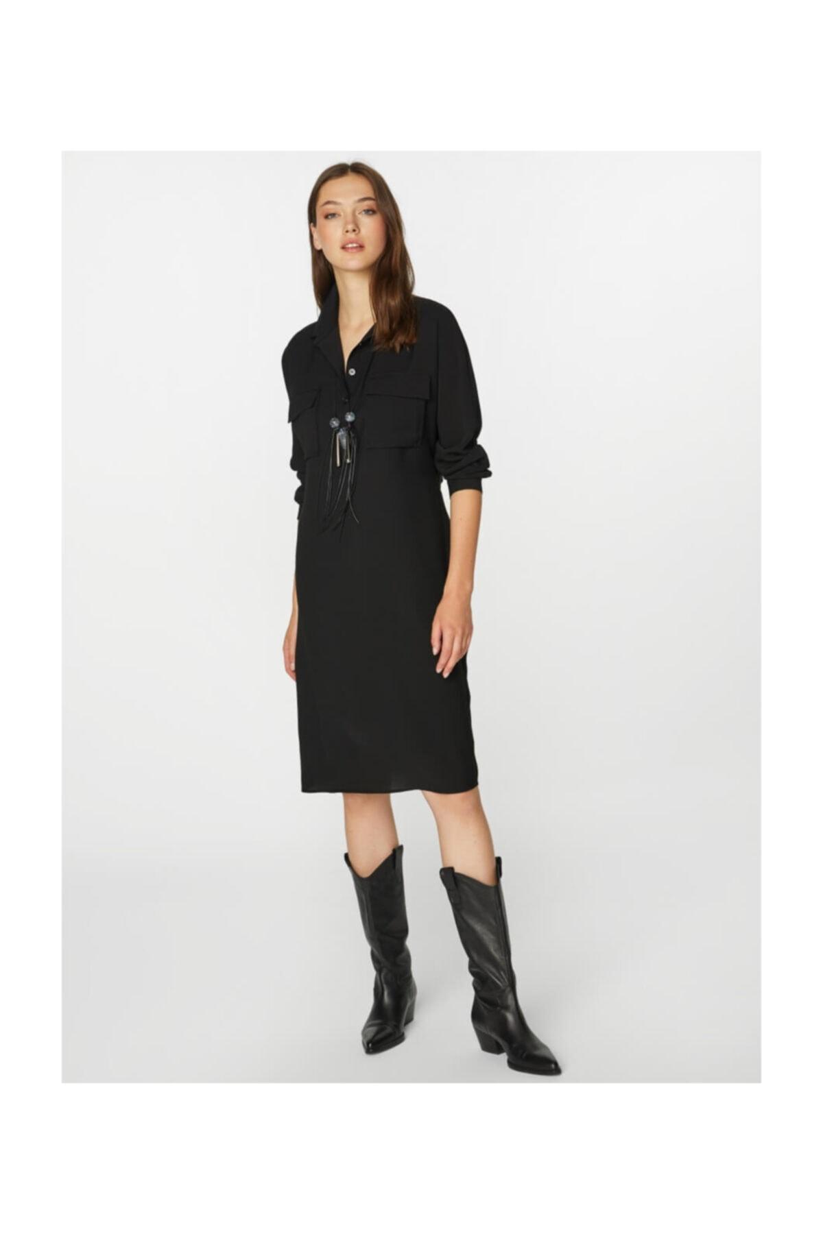 Faik Sönmez Kadın Siyah Elbise 39233 2