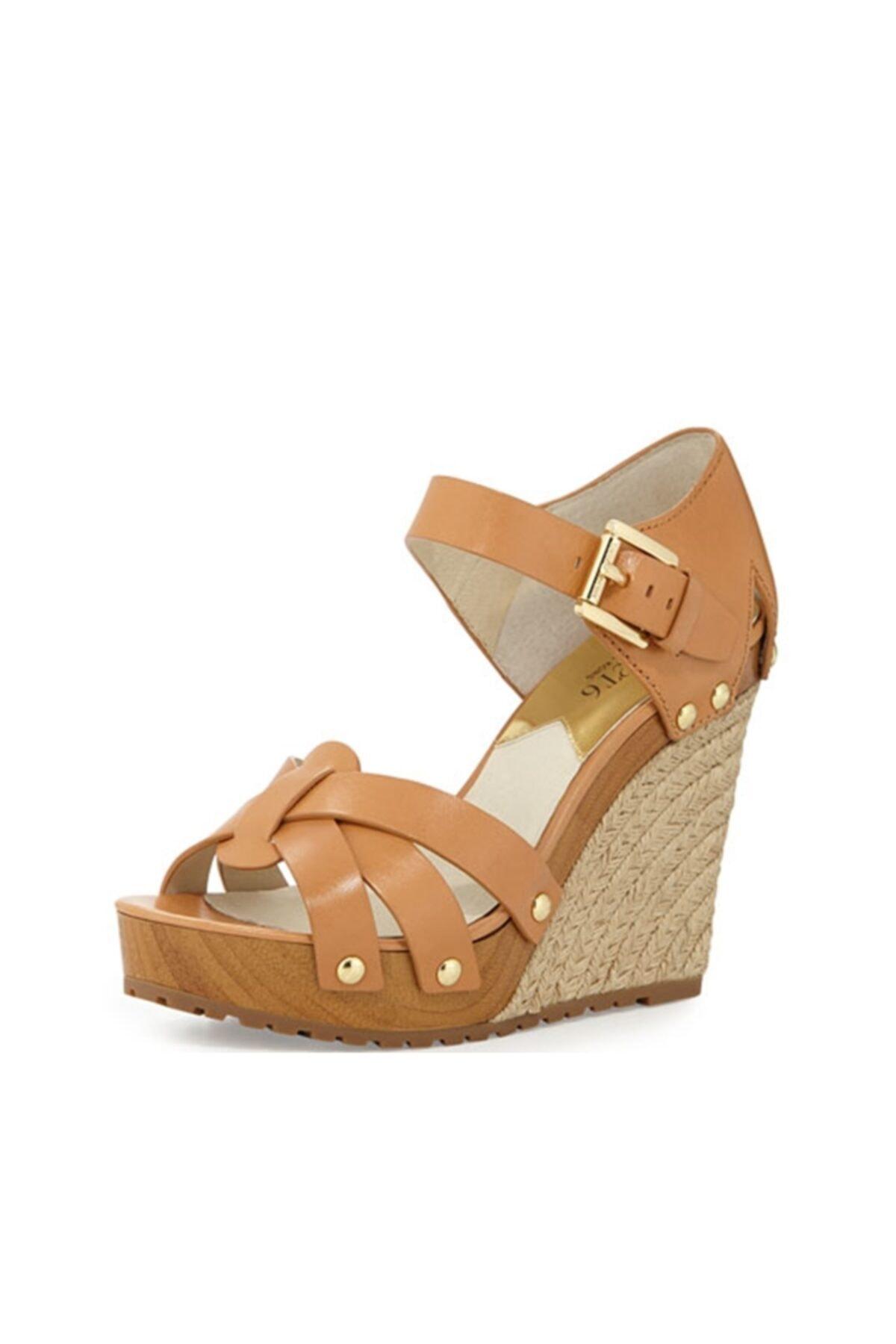 Michael Kors Somerly Bayan Sandalet Yer Fıstığı Rengi 40s5smhs3l 1