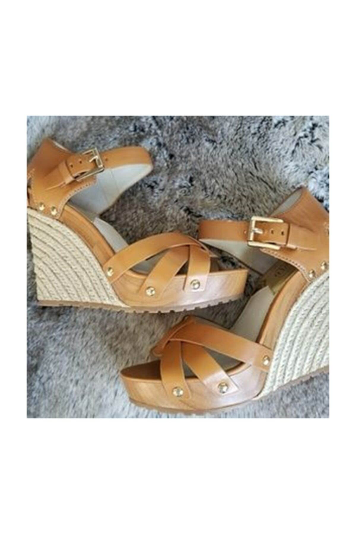 Michael Kors Somerly Bayan Sandalet Yer Fıstığı Rengi 40s5smhs3l 2