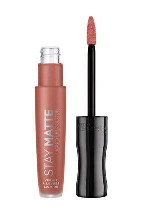 RIMMEL LONDON Kadın Turuncu Ruj - Stay Matte Liquid Lipstick 700 Be My Baby 3614224429324