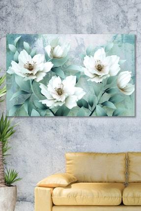 Hediyeler Kapında 70x100 Beyaz Bahçe Duvar Kanvas Tablo