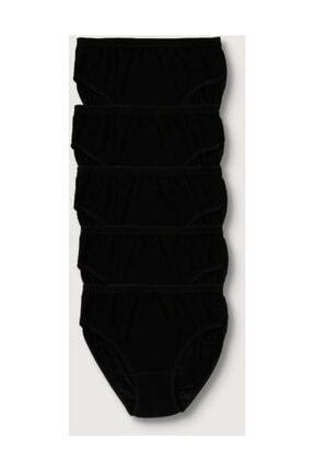 Tutku Kadın Siyah 5'li Paket  Ribana Bato Külot ELF568T0922CCM5 Siyah S