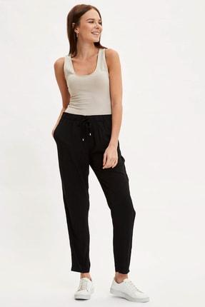 DeFacto Kadın Siyah Harem Elastik Belli Dokuma Pantolon L3164AZ.20SM.BK27