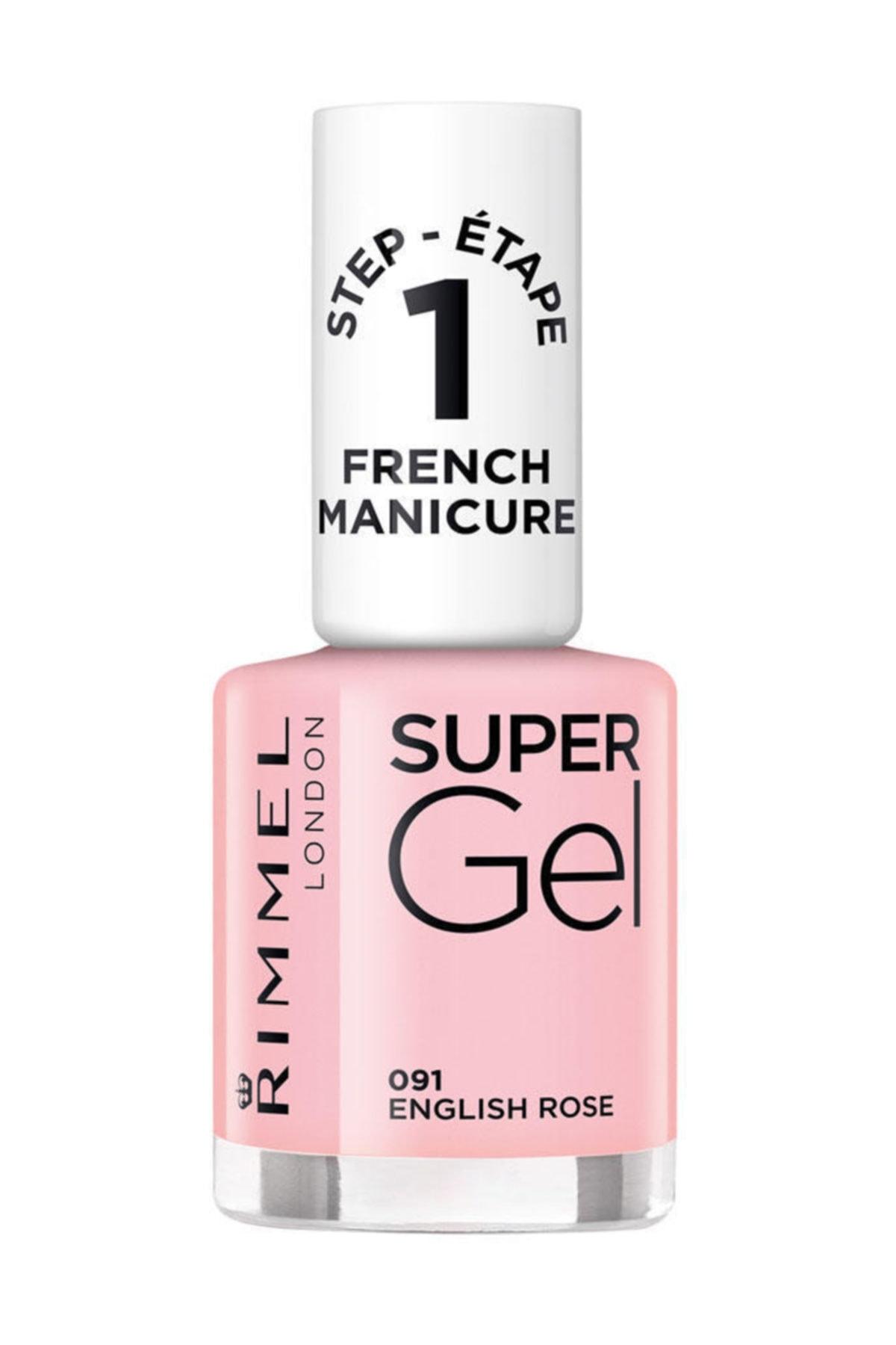 RIMMEL LONDON Oje - Super Gel French Manicure 091 English Rose 12 ml 30121553 1