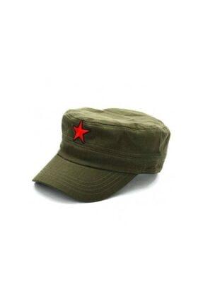 Köstebek Küba Fidel Castro Ernesto Che Guevara Yeşil Kızılyıldız Şapka