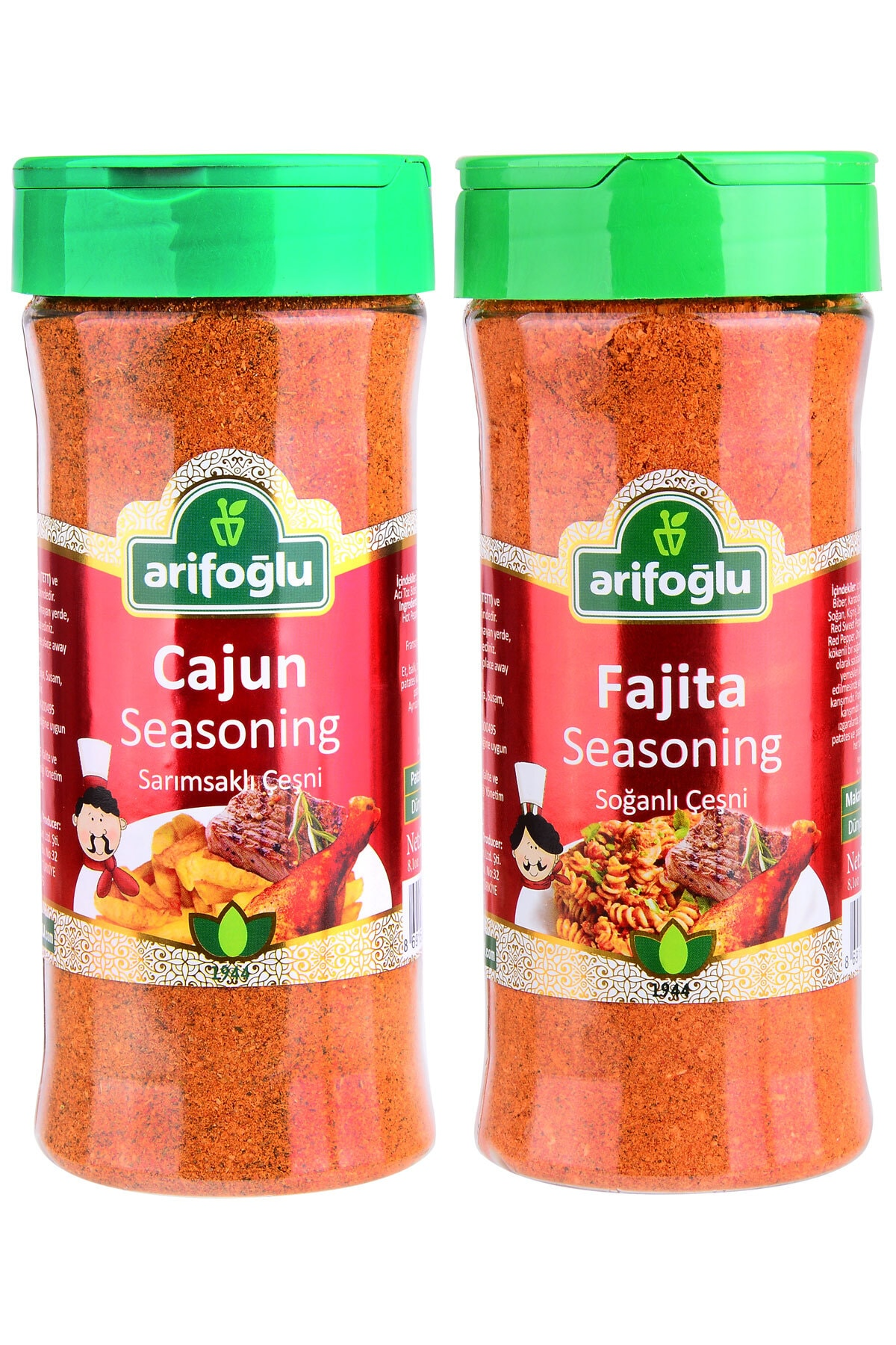 Arifoğlu Cajun Seasoning  230g + Fajita Seasoning 230g 1