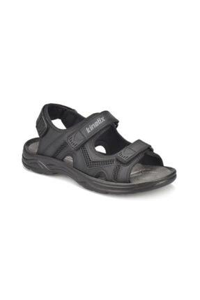 Kinetix Darken Siyah Renk Rahat Taban Erkek Sandalet