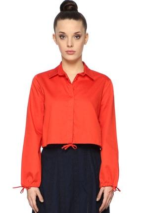 Network Kadın Slim Fit Kırmızı Gömlek 1074602