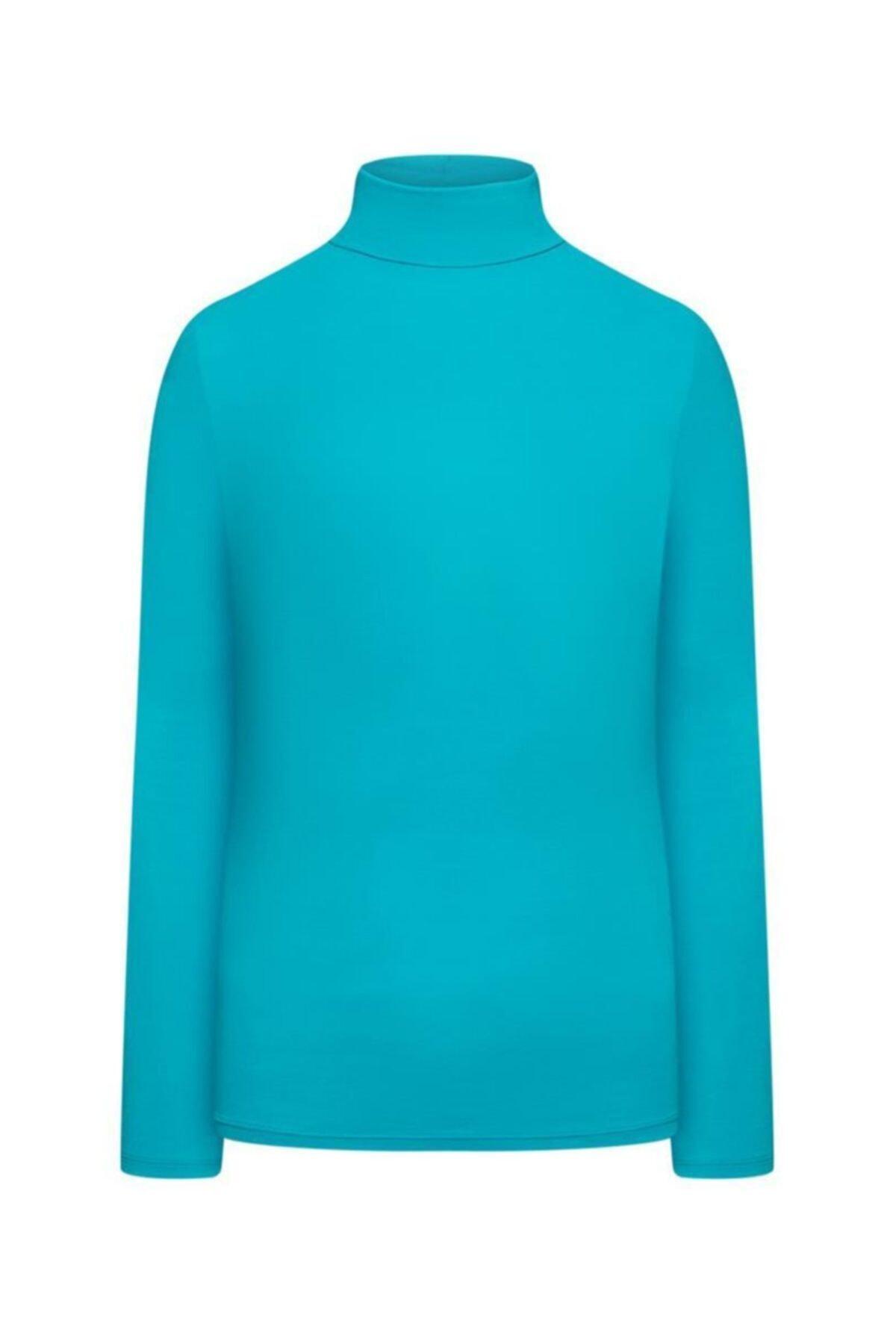 Faberlic Mavi Açık Renkli Kadınlar Için Boğazlı Body Xxl (50-52) 2