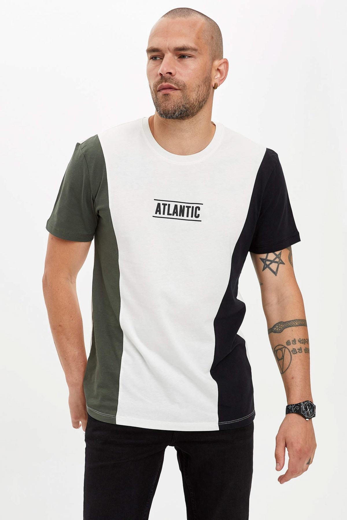DeFacto Erkek Ekru Baskılı Regular Fit T-shirt N6747AZ.20SM.ER105 1