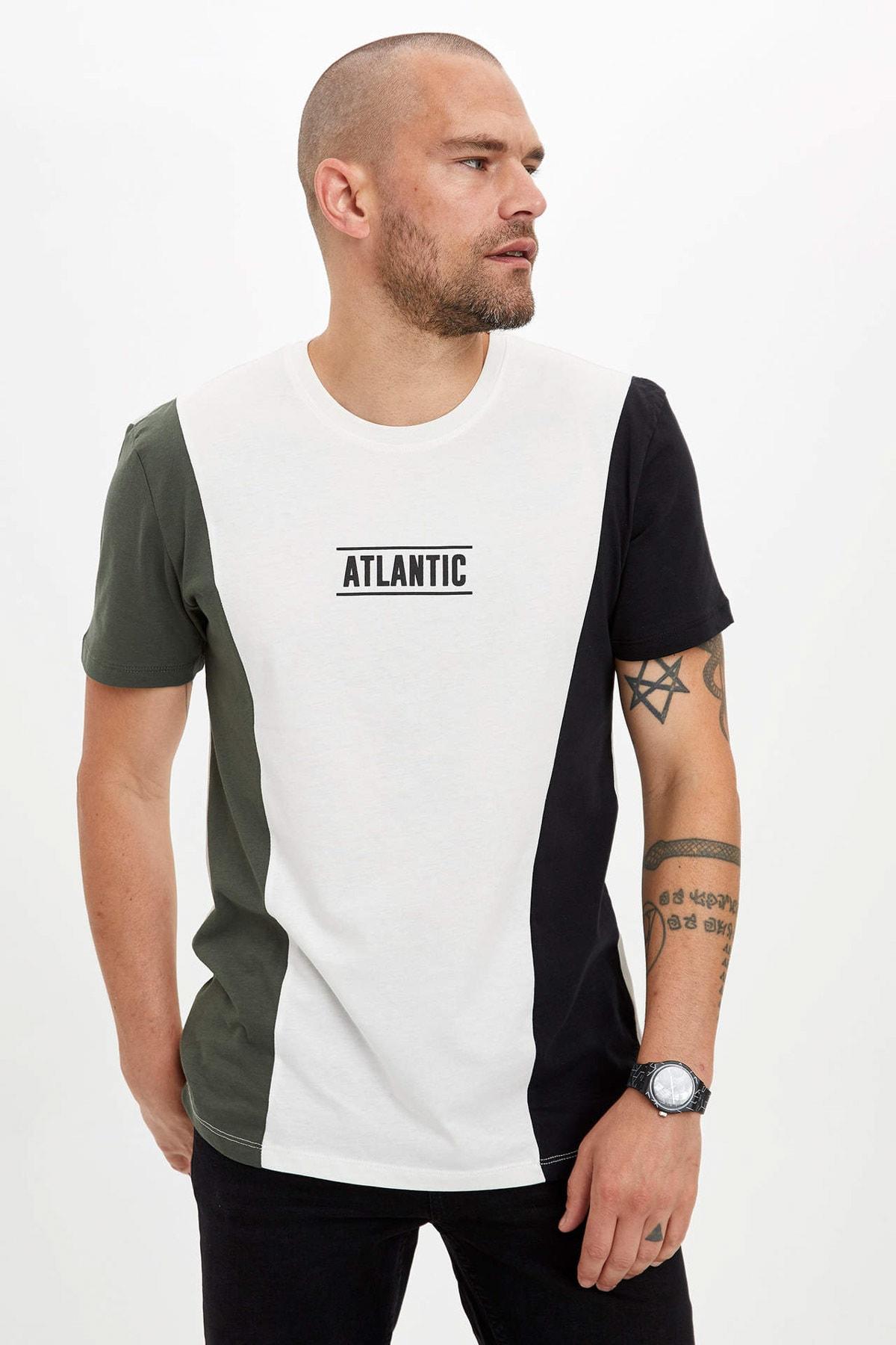 DeFacto Erkek Ekru Baskılı Regular Fit T-shirt N6747AZ.20SM.ER105 2