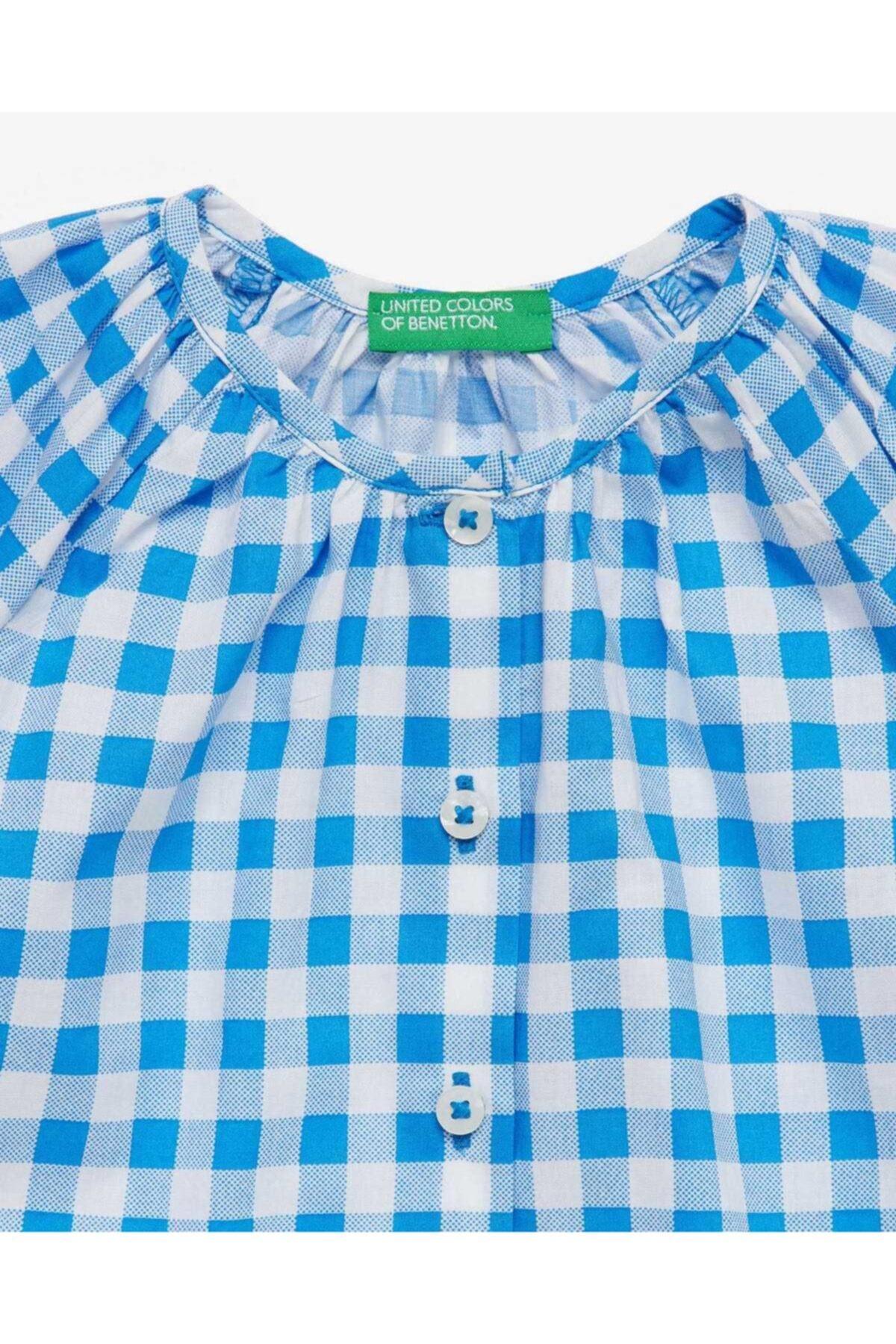 United Colors of Benetton Renkli Kareli Bluz 2