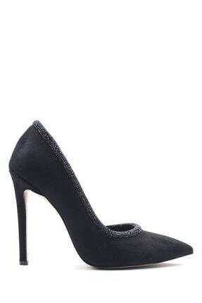 Buffalo Trendy Dıamond Black Topuklu Ayakkabı