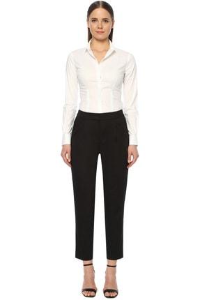 Network Kadın Slim Fit Siyah Pantolon 1073865