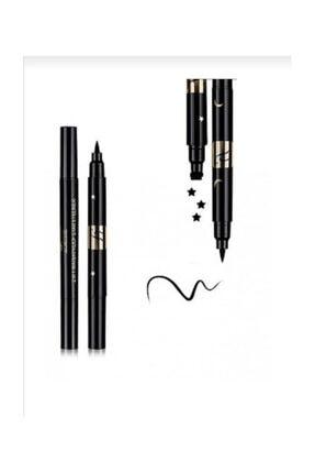 Makeuptime 3 Adet Çift Uçlu Desenli Eyeliner Yıldız,çiçek Ve Ay Desen