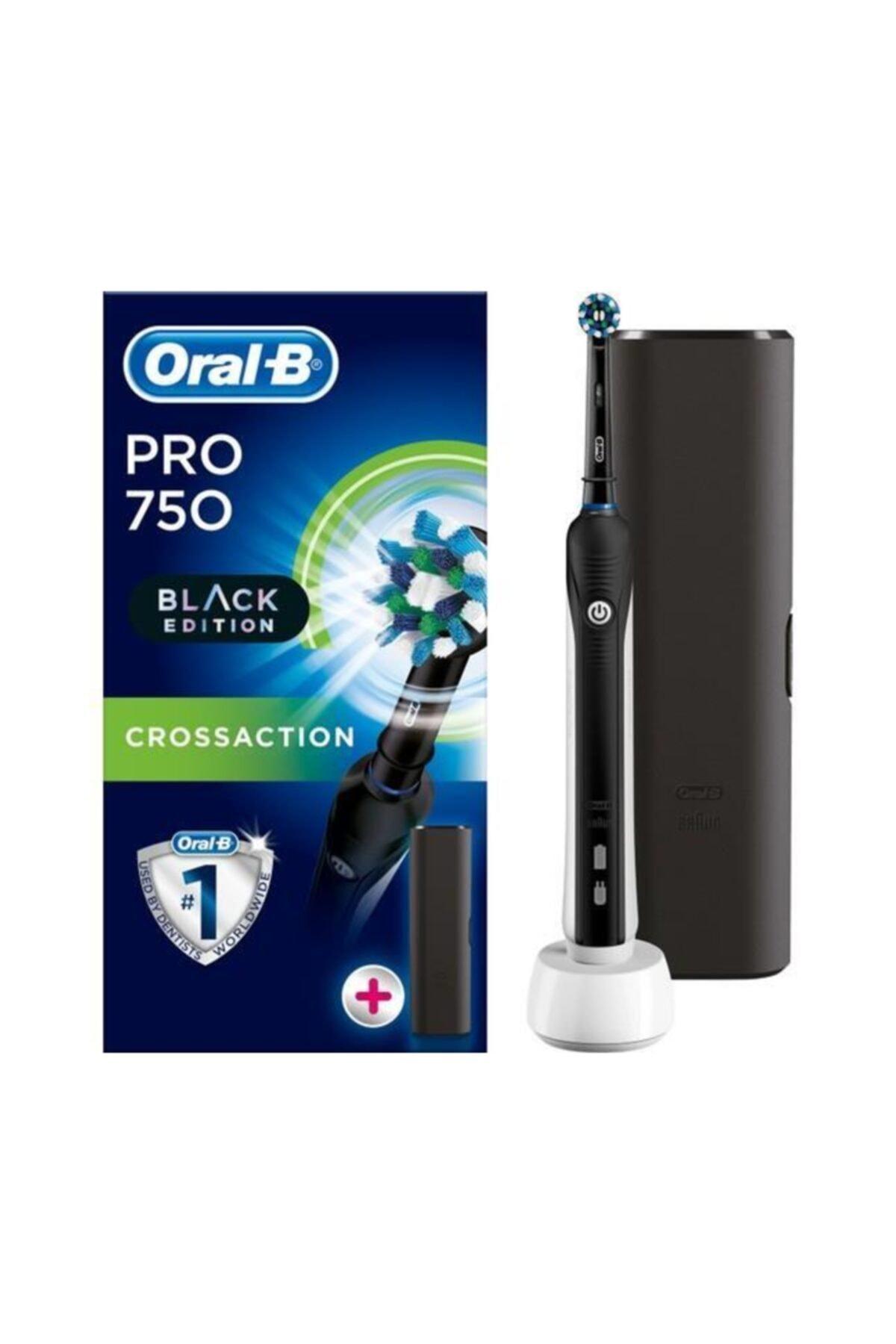 Oral-B Pro 750 Şarj Edilebilir Diş Fırçası Cross Action Siyah 1