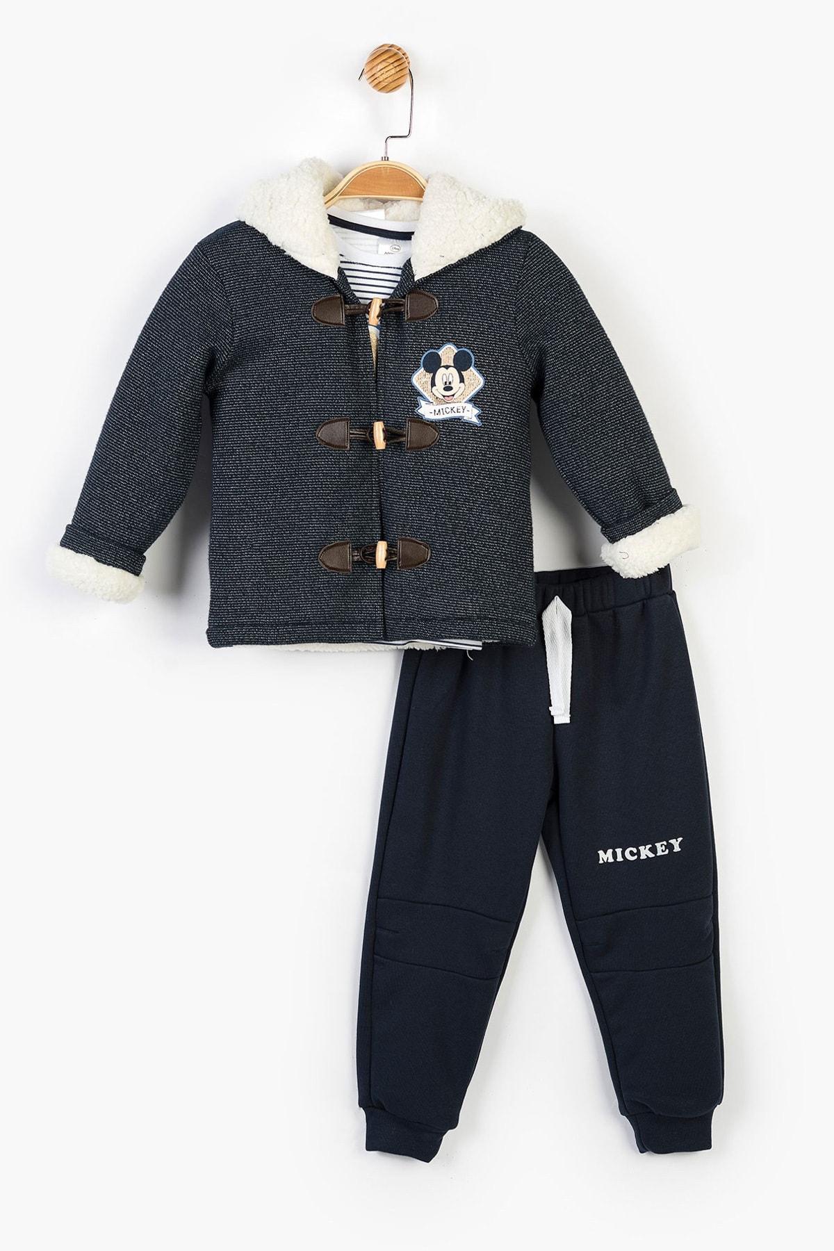 Mickey Mouse Disney Çocuk Kapüşonlu 3lü Takım 14729 1