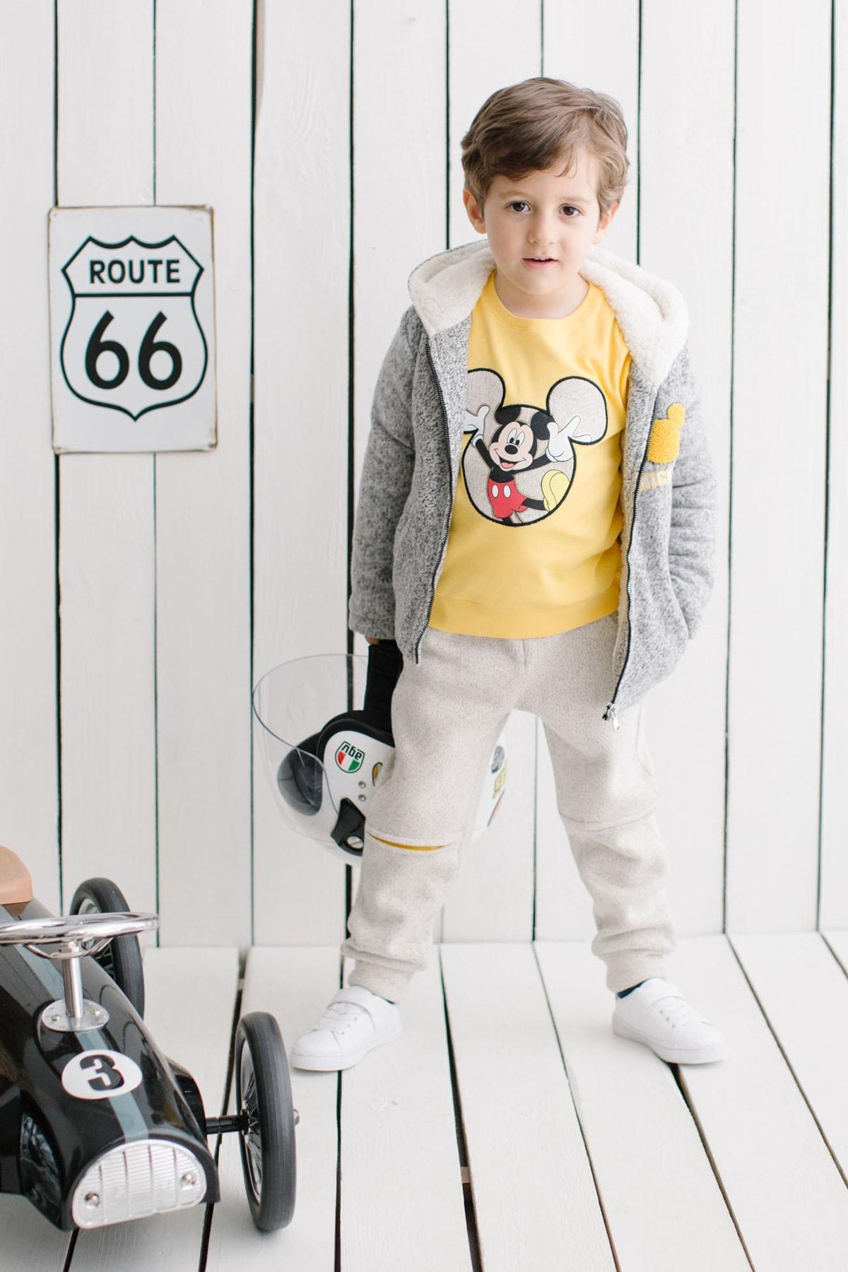 Mickey Mouse Disney Çocuk Kapüşonlu 3lü Takım 14713 1