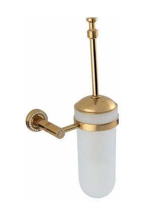 BAUBOSS Altima Altın Taşlı Tuvalet Fırçası (askılı, Pirinç)