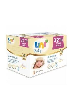 Uni Baby Sensitive Islak Havlu 32'li Paket Kapaklı  - 1792 Yaprak