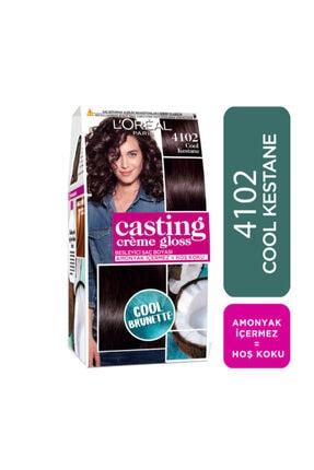 L'Oreal Paris Saç Boyası - Casting Crème Gloss 4102 Cool Kestane 3600523807154