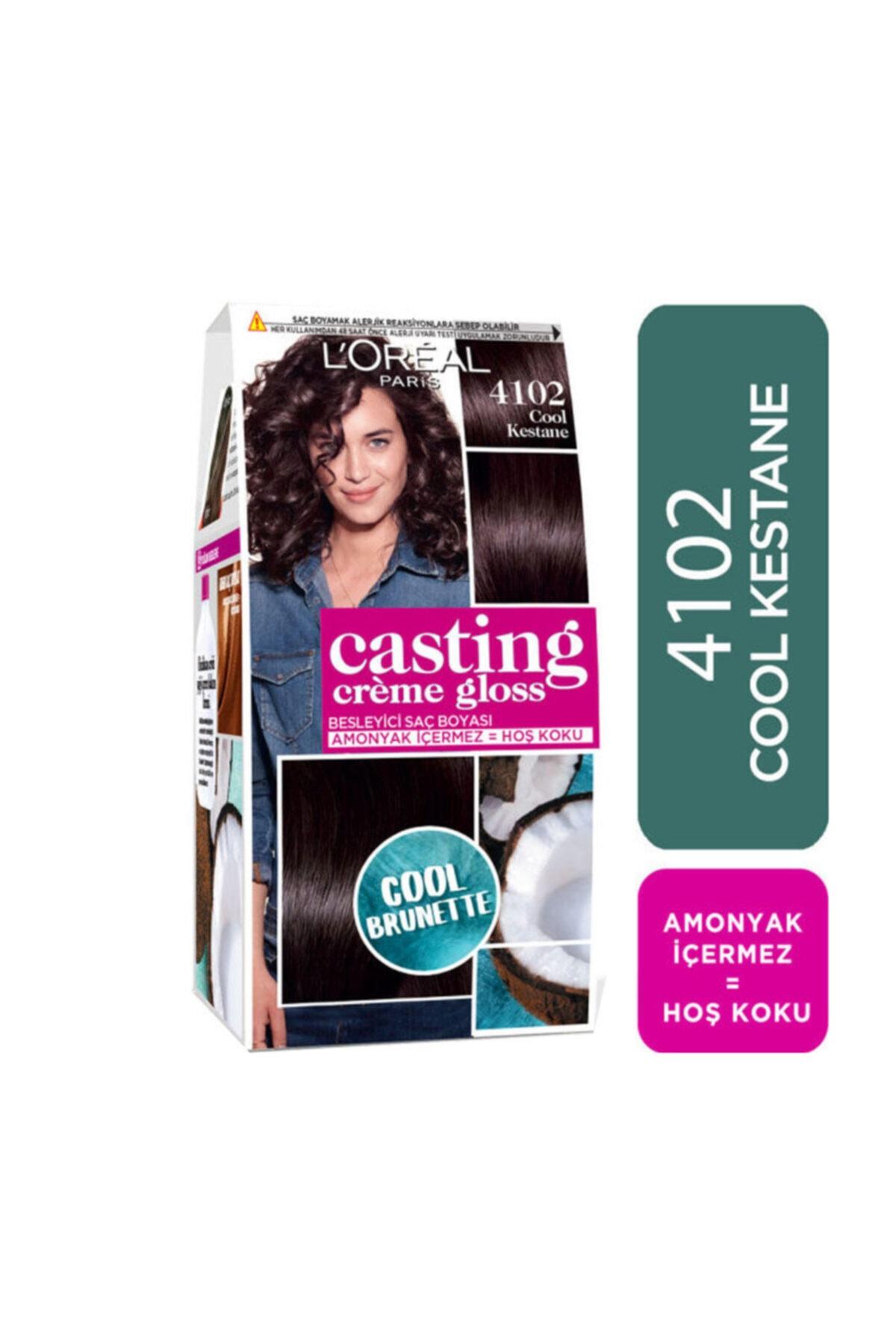 L'Oreal Paris Saç Boyası - Casting Crème Gloss 4102 Cool Kestane 3600523807154 1