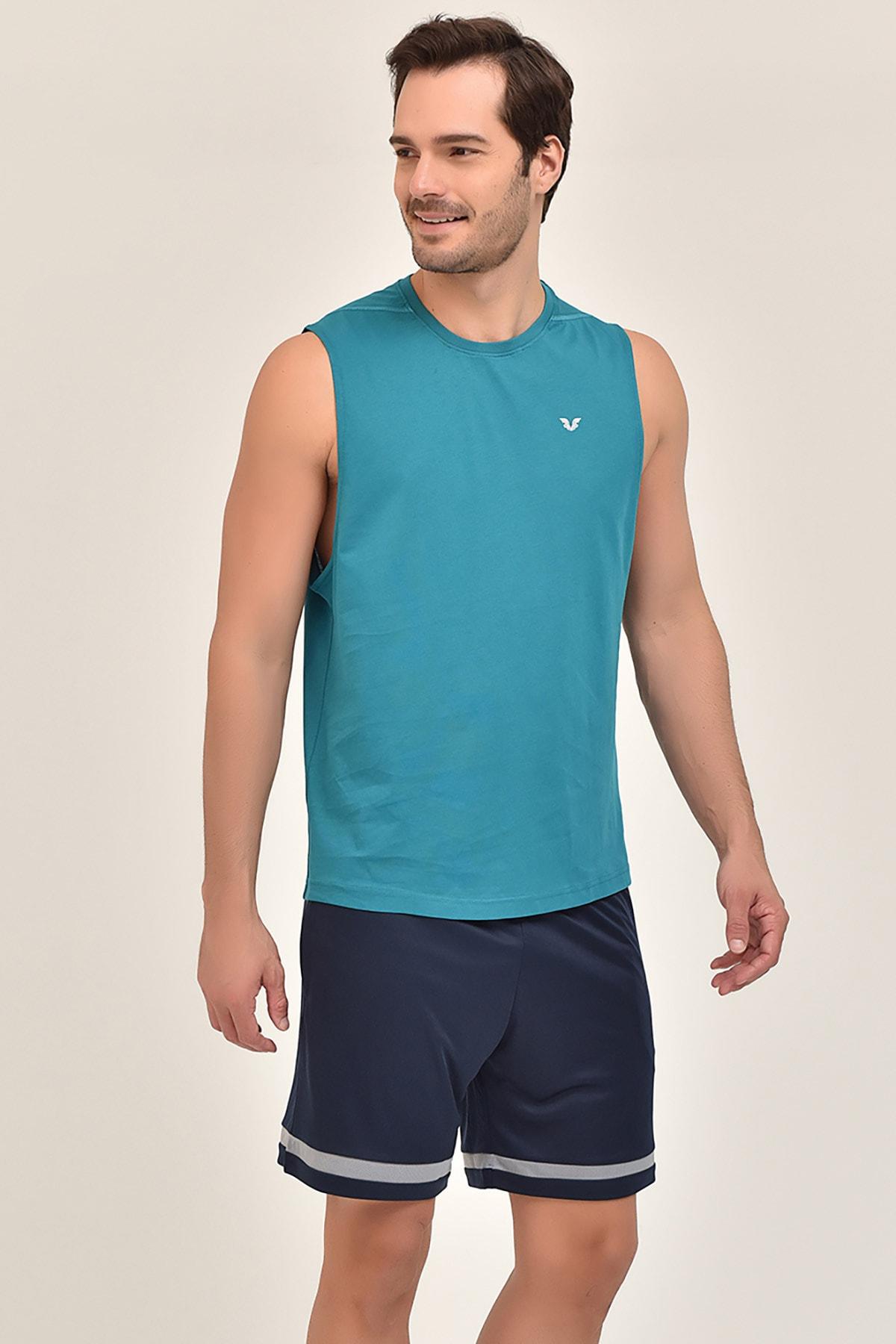 bilcee Yeşil Pamuklu Erkek Atlet FS-1622 1