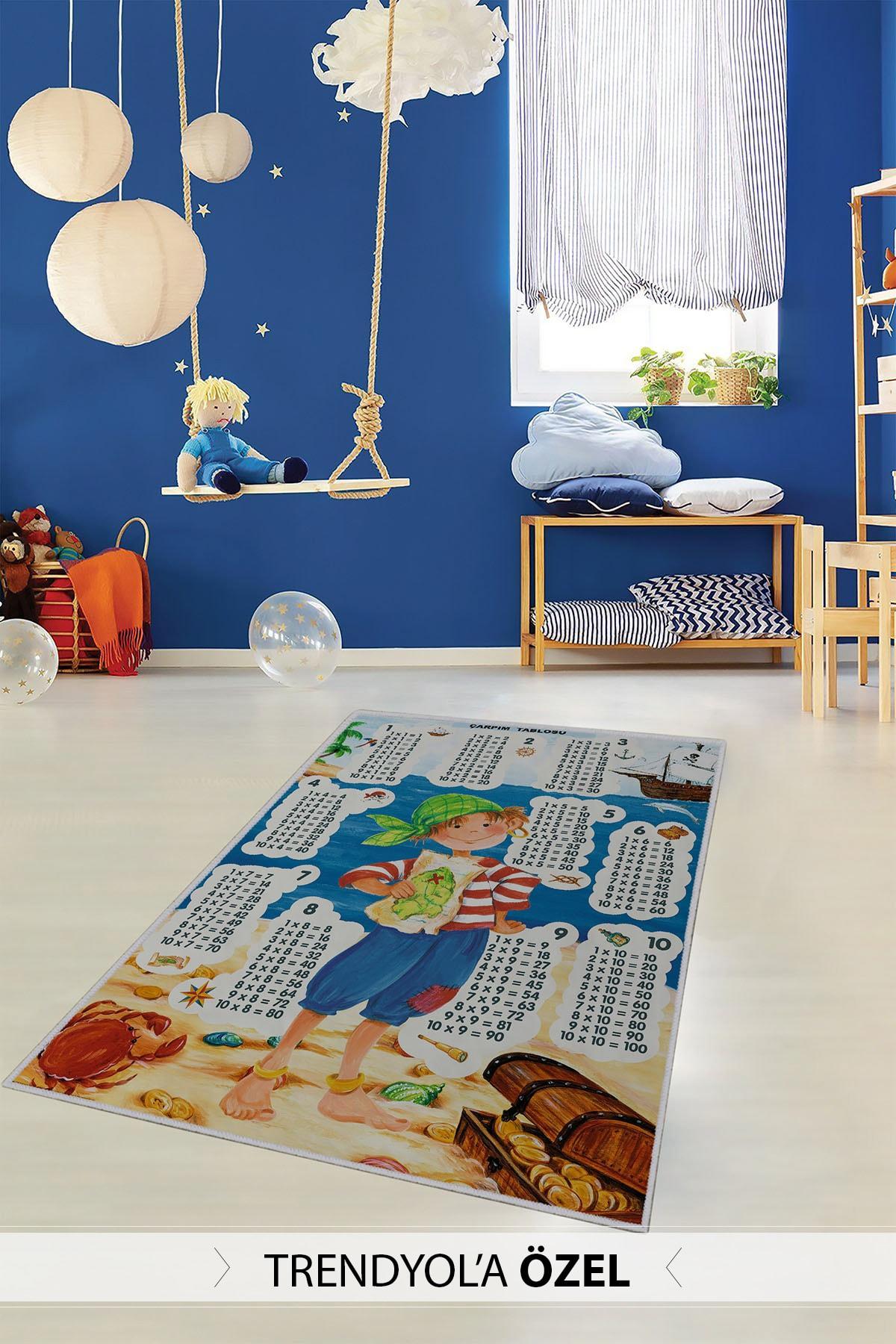 Homefesto Dekoratif Özel Tasarım Ince Yıkanabilir Leke Tutmaz Modern Çocuk Halısı 1