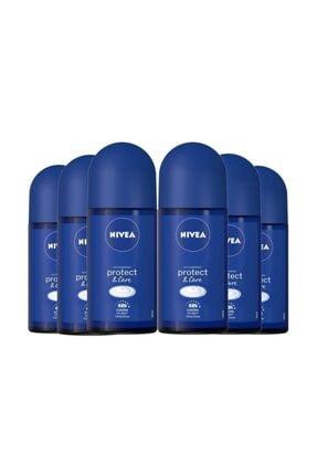 Nivea Protect&care Kadın Roll On 50 ml*6 Adet Avantajlı Paket