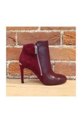 Michael Kors Clara Ankle Kadın Topuklu Bot Şarap Rengi 4of5clhe6l