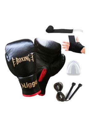 Liggo Boxing Amatör Boks Eldiveni Torba Eldiveni Full Seti