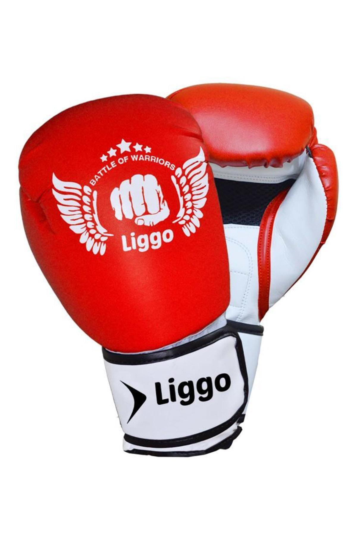 Liggo Unisex Çocuk Kırmızı Boks Eldiveni Kick Boks Muay Thai Eldiveni Liggo Force 1