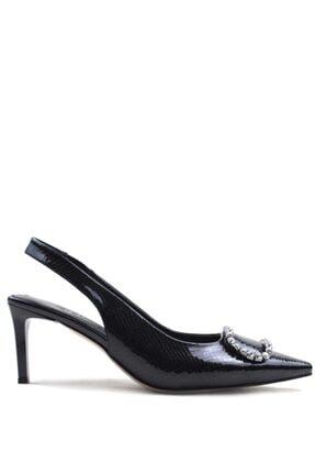 Buffalo Amata Stylısh Black Fashıon Topuklu Ayakkabı