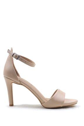 Buffalo Cream Fashıon Topuklu Ayakkabı
