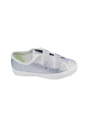 Sanbe Kız Çocuk Günlük Ayakkabı, Gümüş Simli, 31-36 Numara