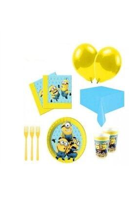 Minions 8 Kişilik Doğum Günü Seti