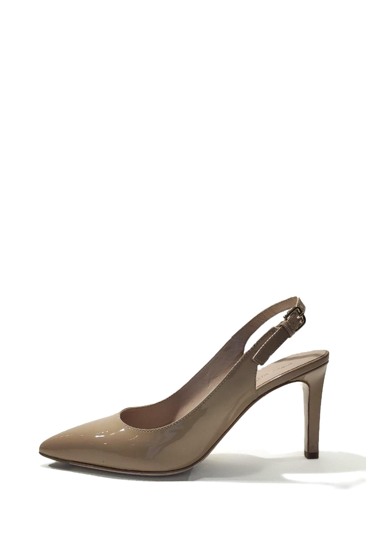 Nursace Kadın Rugan Deri Bilekten Bağlamalı İnce Topuk Ayakkabı 2