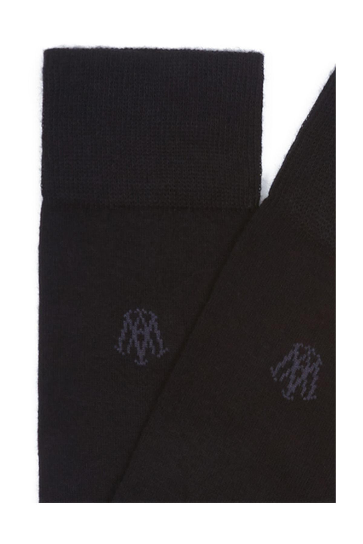 Mavi Erkek Siyah Uzun Çorap 2