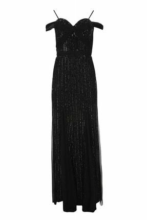 adL Kadın Siyah Askılı Elbise 12437157000001