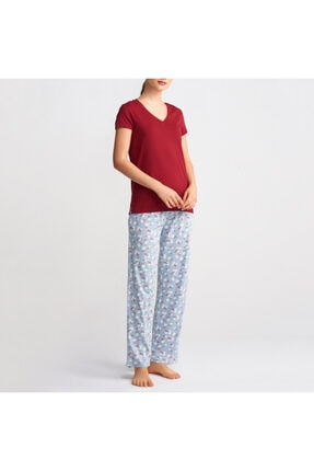 Katia&Bony Kadın Basic Tişört - Bordo