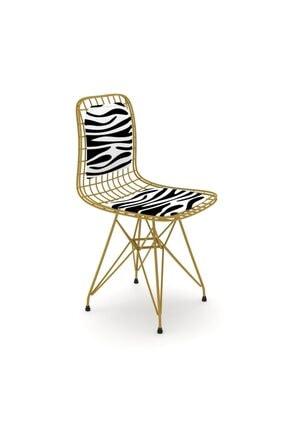 Kenzlife Kafes Tel Sandalyesi 1'Li Mazlum Altbonar Sırtminderli Ofis Cafe Bahçe Mutfak
