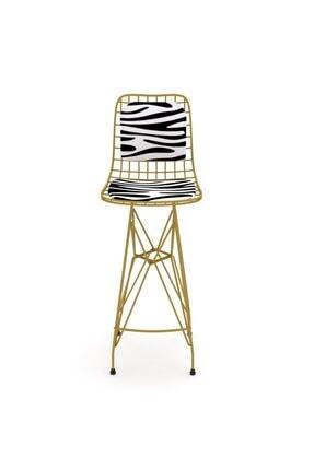 Kenzlife Knsz Kafes Tel Bar Sandalyesi 1 Li Zengin Altbonar Sırt Minderli Ofis Cafe Bahçe Mutfak