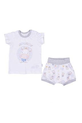 kitikate Organik Milk Erkek Bebek Pijama Takım