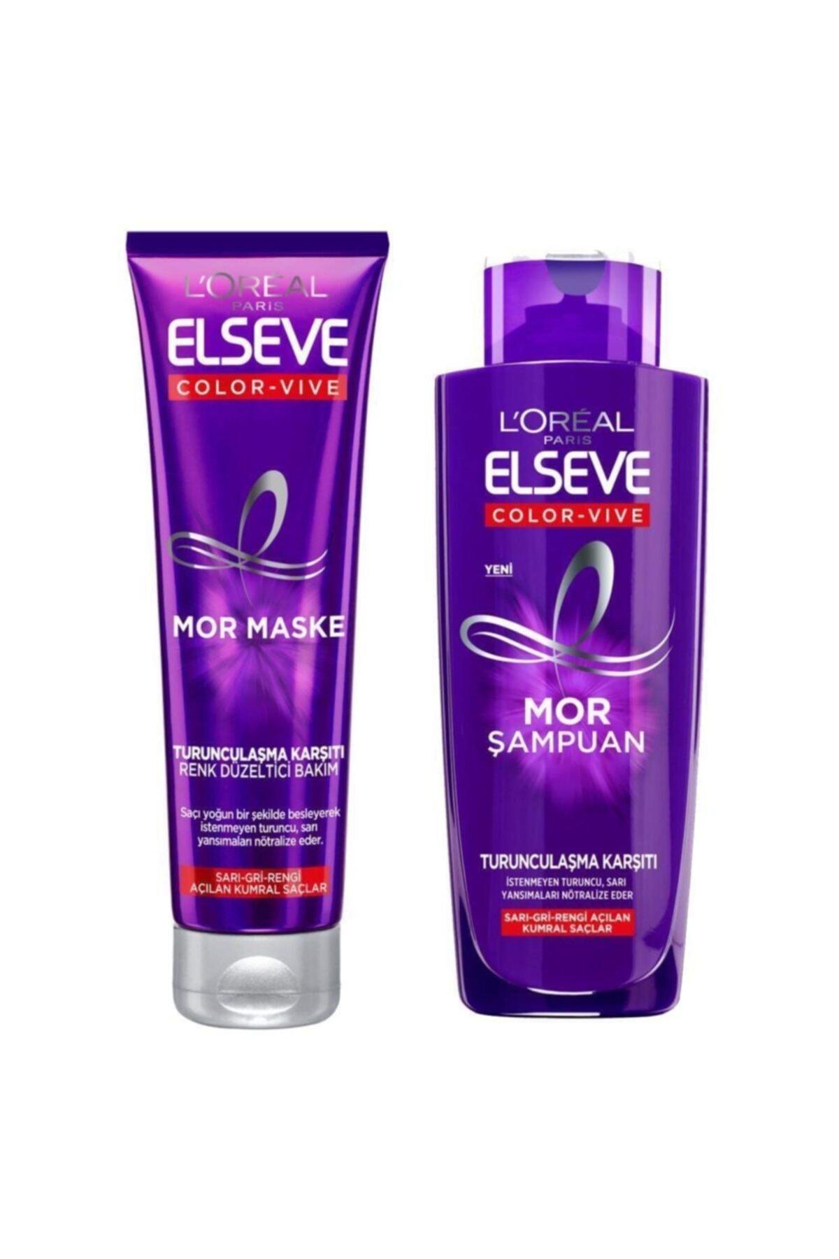 ELSEVE Loreal Color-Vive Silver Mor Şampuan 200 ml + Maske 150 ml 1