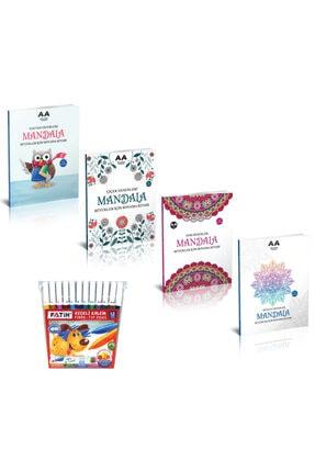 Akıllı Adam Yayınevi Mandala Boyama Kitabı Büyükler Için Set