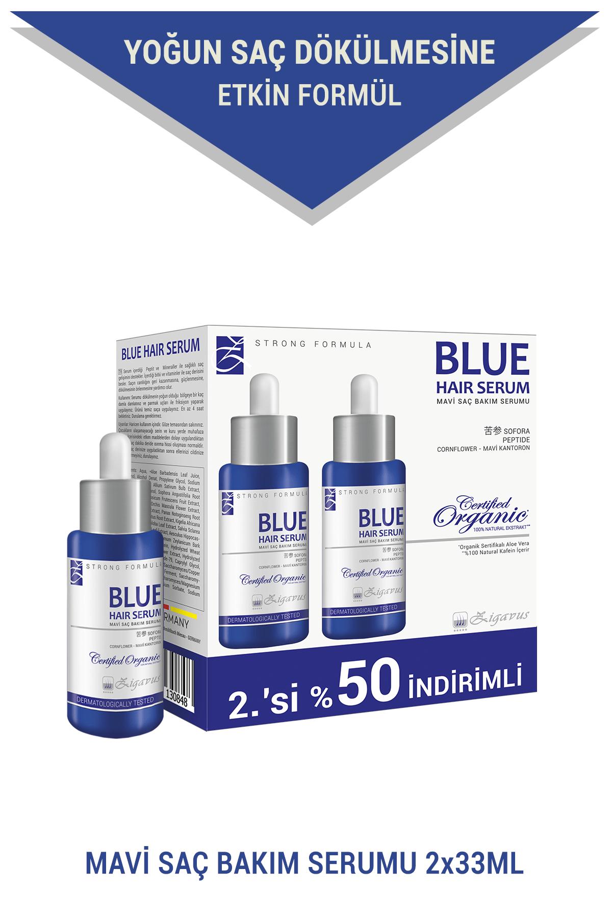 Zigavus Blue Saç Bakım Serumu 2x33 ml (2.si%50 İndirimli) - Mavi Su 8699349130848